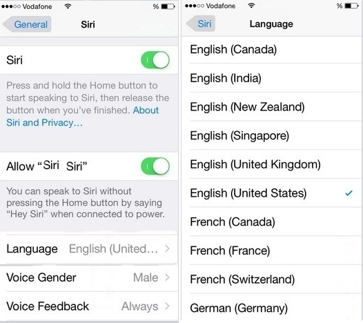 Change Siri's Voice on iPhone and language in iOS