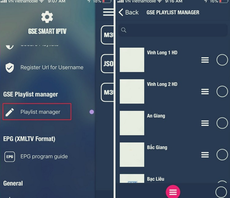 GSE Smart IPTV (Android / iOS)
