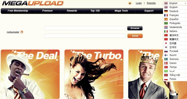 How to upload a file Megaupload