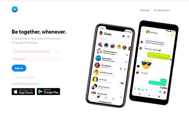 official site of Messenger
