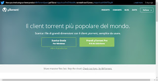 UTorrent website