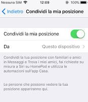Share my iPhone location