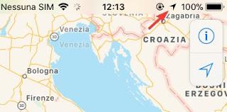 IPhone GPS icon