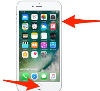 IPhone Screenshot keys 7
