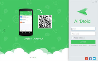 Login AirDroid Desktop