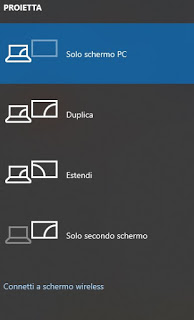 Project screen
