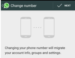 move whatsapp data from old to new number