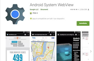 what does android system webview