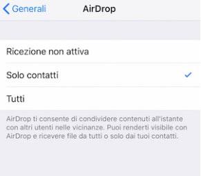 AirDrop exchange