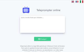 Online teleprompter