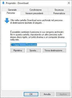 Change folder