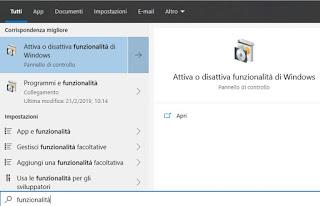 Windows functionality