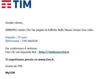 TIM scam