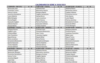 Serie A 2020/2021 fixtures