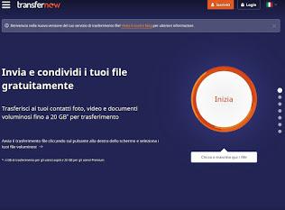 TransferNow website