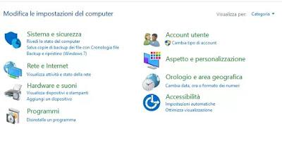 windows configuration menu