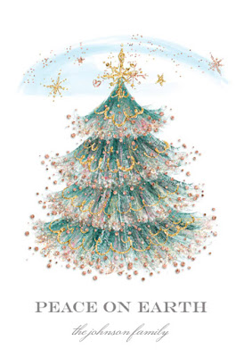 Greeting card: glitter Christmas tree