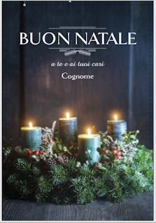 Greeting card: Christmas wreath