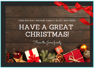Greeting card: Christmas gifts