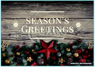 Greeting card: season's greetings