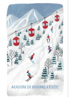 Greeting card: ski slopes