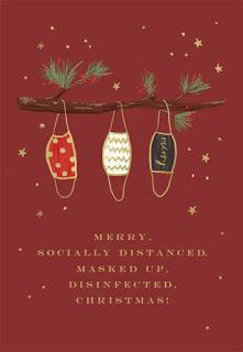 Greeting card: Christmas masks