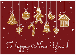 Greeting card: Christmas marzipan cookies