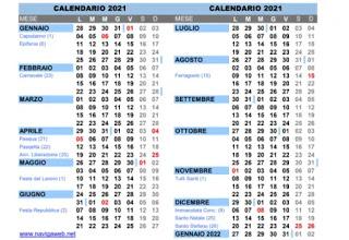 calendar in PDF
