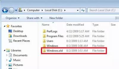 delete old windows